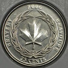 CANADA 25 cents 2006L Medal of Bravery -MS