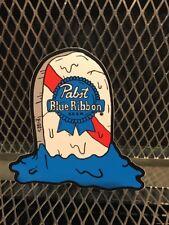 Pbr Art Pabst Blue Ribbon Beer ~ Grave Sticker Dela Deso Pizza Tap Handle Artist