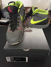 NIKE KYRIE 1 I DUNGEON DEEP PEWTER GREY VOLT GREEN NEON ASG 705277-270 MENS 9.5
