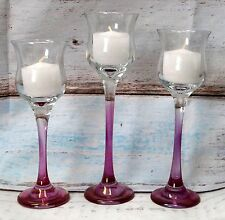 New Goebel Gem Graduated Votives Candleholders Set of 3