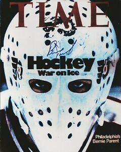 Bernie Parent Autographed Time Magazine Cover 8x10 Photo Philadephia Flyers HOF