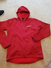 MEN'S BERGHAUS FULL ZIP CASUAL FLEECE JACKET  SIZE SMALL S red
