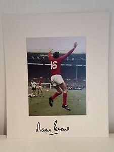 RARE Martin Peters England 1966 Signed Photo Display + COA AUTOGRAPH