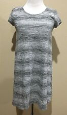NWT Women's Gray Stripe Short Sleeve Mossimo Tunic XS