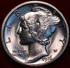 Uncirculated 1916-S San Francisco Mint Silver  Mercury Dime