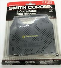 Smith Corona H 21000 Correctable Film Ribbons Black Two Pack New Sealed