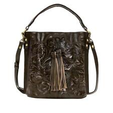 Patricia Nash Torresina Leather Bucket Bag Moss Color New $220 Retail