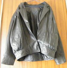 Vintage Authentic Mens Leather Jacket 3 Button Black