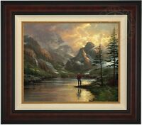 Thomas Kinkade Almost Heaven 20 x 24 LE S/N Canvas (Burl Frame)