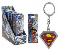 NEW METAL SUPER MAN LOGO KEYRING KEYCHAIN HANDBAG BAG CHARM SUPERMAN UK