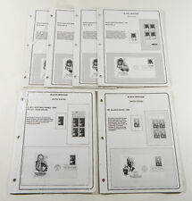 Lot of (6) Brookman Stamp Album Page 1991-92 US Supplements Black Heritage