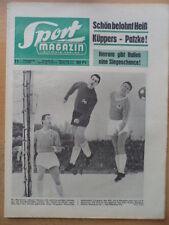 SPORT MAGAZIN KICKER 11 A - 8.3. 1965 ** BVB-Braunschweig 5:4 Warschau-1860 0:4