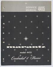 Marantz Model 4415 original quadradial 4 receptor Service-Manual/diagram o126