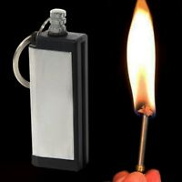Camping Survival Emergency Fire Starter Flint Match Lighter With Keyring H Nice