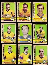 1972 - 73 Topps Hockey Team SET lot of 9 Los Angeles KINGS NM+ GORING Rogie