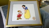 Walt Disney Company Limited Edition Serigraph Framed Snow White and Doc