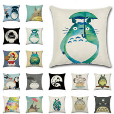 "18"" Totoro Cartoon Cushion Cover Pillow Case Throw Square Sofa Home Decor Art"