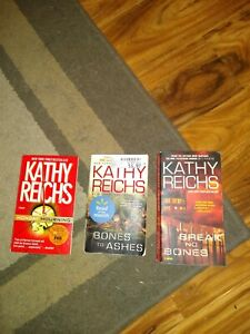 3 Kathy Reichs Bones Book Lot