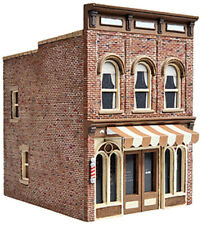 Walthers Cornerstone HO Scale Building/Structure Kit Vic's Barber Shop