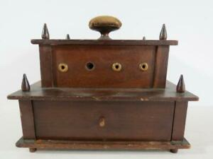 Antique 19th Century Folk Art Sewing Box