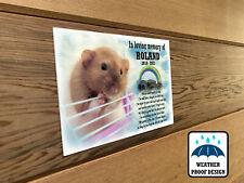 Personalised pet Rat memorial plaque, Bench plaque, Grave marker plaque.