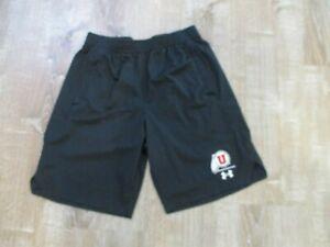 University of Utah Under Armour Athletic Shorts Men's Medium feather logo