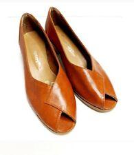 Vintage 80's-90's Fascinators Brown Block Heel Shoes Size 8