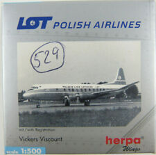 Vickers Viscount LOT Polish Airlines SP-LVC Herpa 512008 1:500 in OVP [M1]