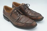 ECCO Brown Leather Oxford Shock Point Lace Up Shoes Men's 11 11.5 EU 45