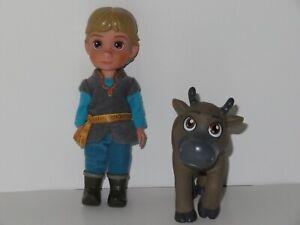 Disney Frozen Kristoff Sven Petite Toddler Set Doll Figure Toy JAKKS Pacific LOT