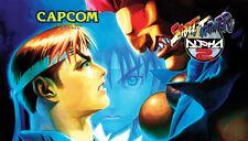 """Street Fighter Alpha 2 - Dynamo Big Blue Arcade Marquee - 27""""x15.5"""""""