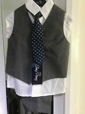 Baby Boys Party Wedding Waistcoat Tie Suit 18 Months- 2 Years Old