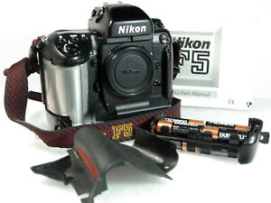 Nikon F5 Film Camera w/ original Strap, manual, and batteries.