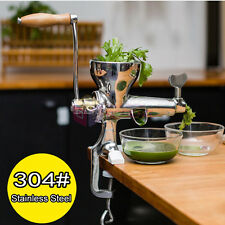 Stainless Steel Wheat Grass Leafy Vegetable Juicer Hand Crank Manual Extractor