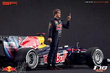 1/18 Sebastian Vettel VERY RARE!!! figures for1:18 Minichamps Autoart F1 RedBull
