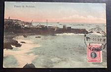 1919 Lima Peru Picture Postcard Cover To Madison WI USA Mollendo Port
