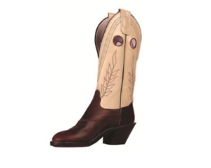 Olathe 7348 Men's 11.5 D Cowboy Boots White/Brown Chocolate Horse 14""