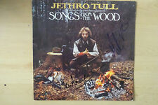 """Jethro Tull """"Ian Anderson"""" Autogramme signed LP-Cover """"Songs From The Woo"""" Vinyl"""