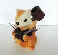 Vintage Chalkware Squirrel Nutcracker Set Concepts International Taiwan 7 Pc Lot