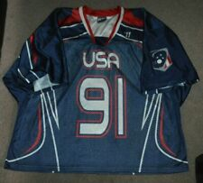 Mike Leveille Team USA Lacrosse Game Worn Used Warrior Jersey XL US