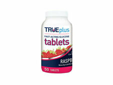 Trueplus Glucose Tablets, Raspberry - 50 Count