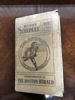 1907 National, American & New England League Baseball Schedule Boston Herald