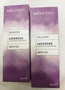 Miraroma Lavender Bath Oil 2 x 100ml NEW boxed