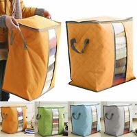 Foldable Storage Bag Clothes Quilt Blanket Organizer Zipper Box Space Saver