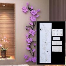 Red Rose Flower 3D Art Acrylic Wall Sticker Home Room Decor DIY Green/Purple Hot
