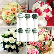 6pcs/lot  Bouquet Holder Wedding Decoration Floral Foam Flower Handles