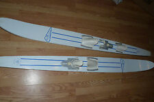 Vintage A & M Sporting Goods Mason City Ia Thompson Skis White Ash Water Ski
