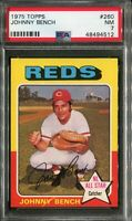 1975 Topps #260 Johnny Bench PSA 7 NM
