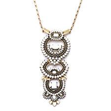 Fashion Havana Versatile Stella White Beads Removable Brass Pendant Dot Necklace