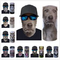 Animals Print Neck Gaiter Bandana Headband Face Scarf Shield Cover Snood Scarves